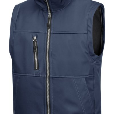 Vest i softshell fra Snickers Workwear.