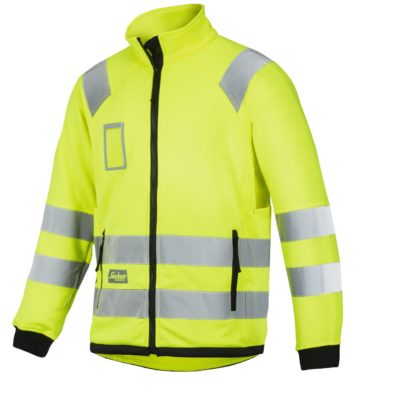 8063_high-vis fleecejhakke Snickers Workwear Gul