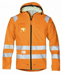 8233_highvis regnjakke Snickers Workwear