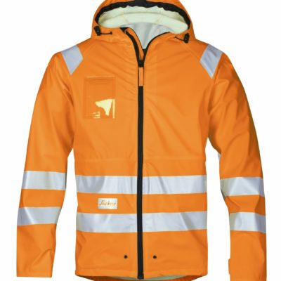 8233_highvis regnjakke Snickers Workwear