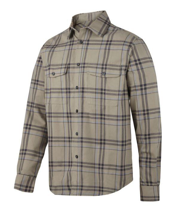 8502 flanellskjorte khaki Snickers