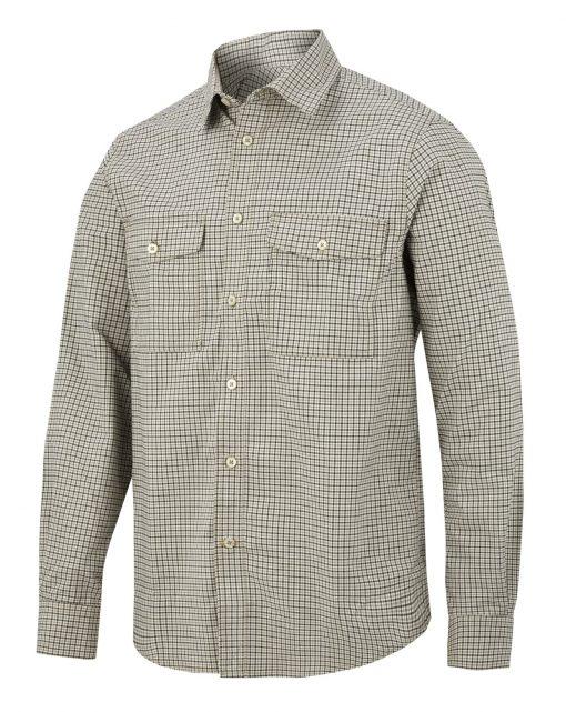 8507_1695_rutete arbeidskjorte Snickers Workwear